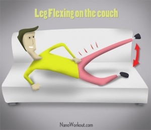 Leg Flexing - Couchercises